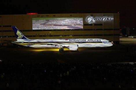 Předávací ceremoniál nového Boeingu 787-10 pro Singapore Airlines. Foto: Singapore Airlines