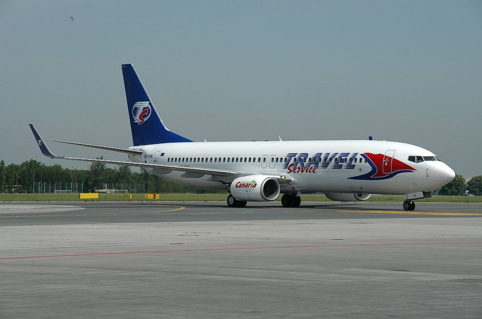 3794757b7e2 Původní nátěr letadel Travel Service. Foto  Travel Service
