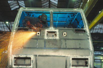 Svařování lokomotivy ve Vratislavi. Foto: Bombardier