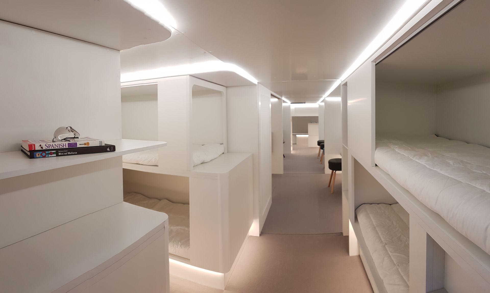 Modul do nákladového prostoru, kde by místo nákladu mohli spát cestující. Foto: Airbus