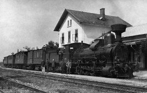 Parní lokomotiva zvaná Heligón. Zdroj: Archiv Bohumíra Goldy