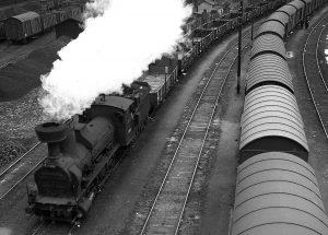 Parní lokomotiva zvaná Heligón. Zdroj: Archiv Bohumila Goldy