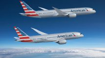 Boieng 787-8 a 787-9 v barvách American Airlines. Foto: Boeing