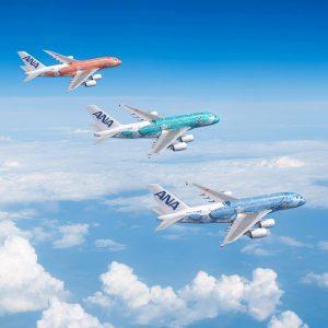 Každá ze tří A380 pro ANA bude mít jinou barvu. Foto: ANA