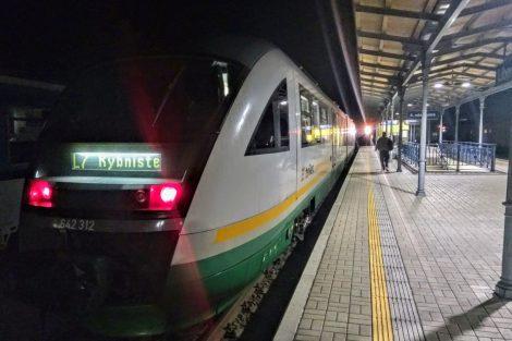 První ranní vlak z Liberce do německé Žitavy. Foto: Jan Sůra