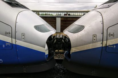 Spojené jednotky TGV. Foto: Jan Sůra