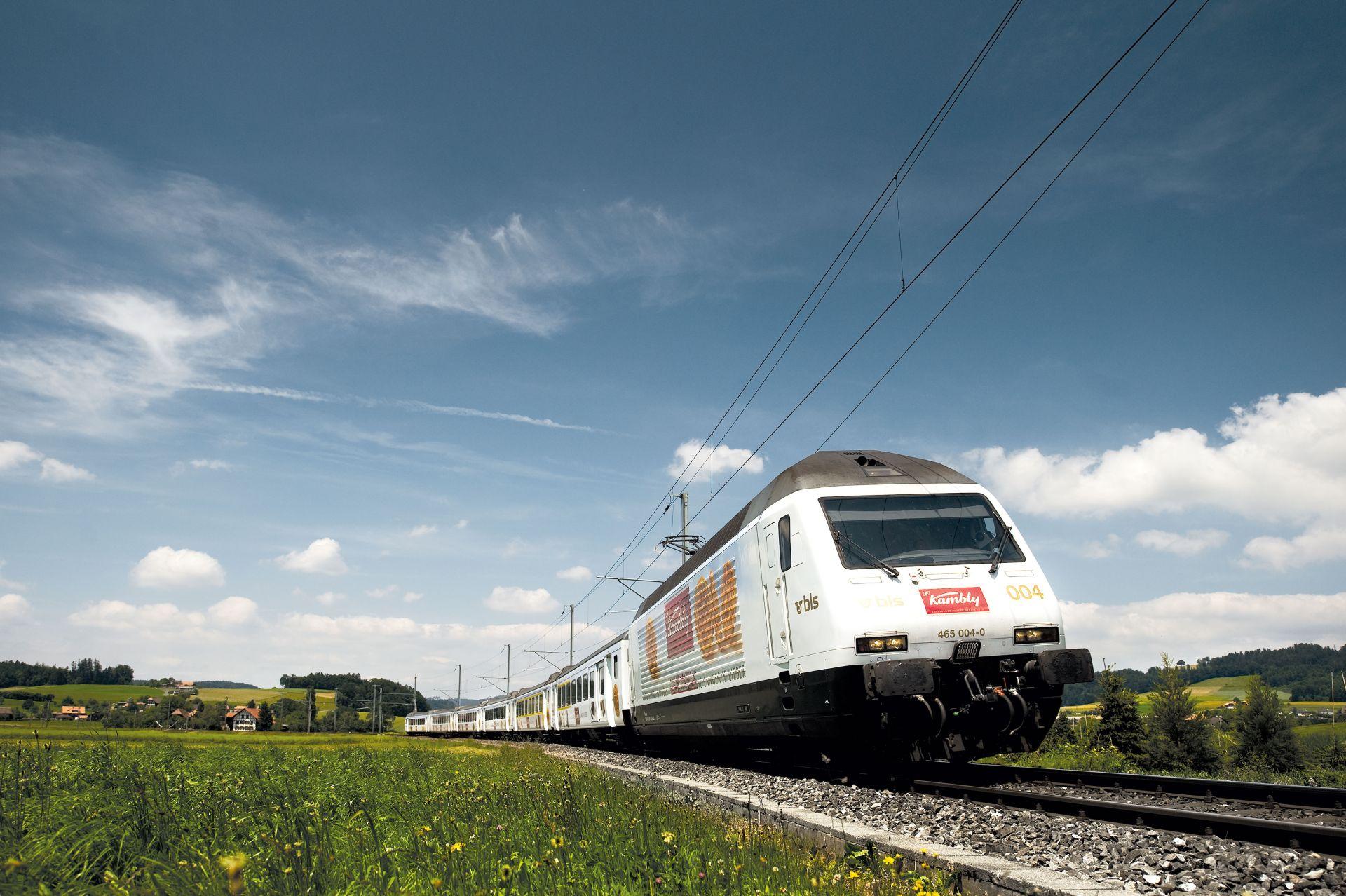 Vlak společnosti BLS. Foto: BLS