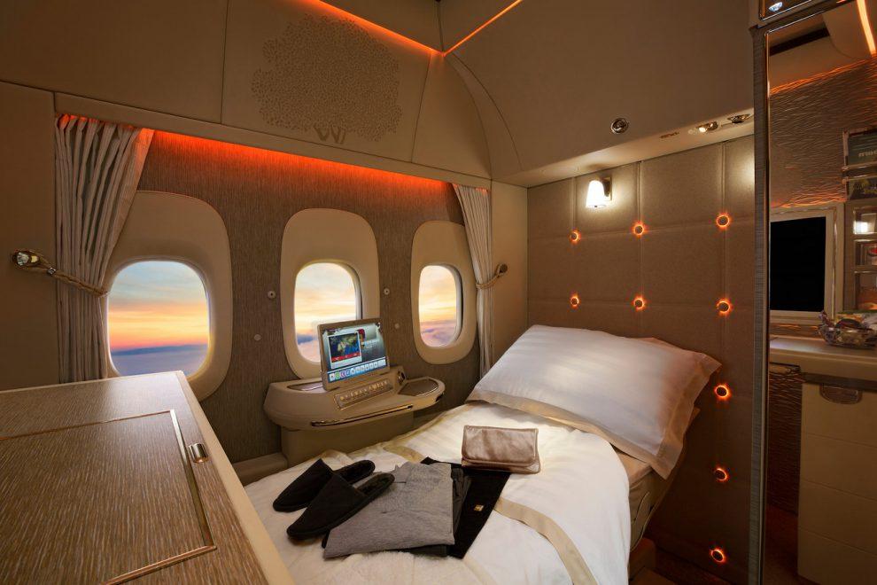 Emirates v první třídě lákají na privátní kabinky. Foto: Emirates