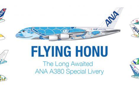 Trojice barevného provedení ANA pro A380. Foto: ANA