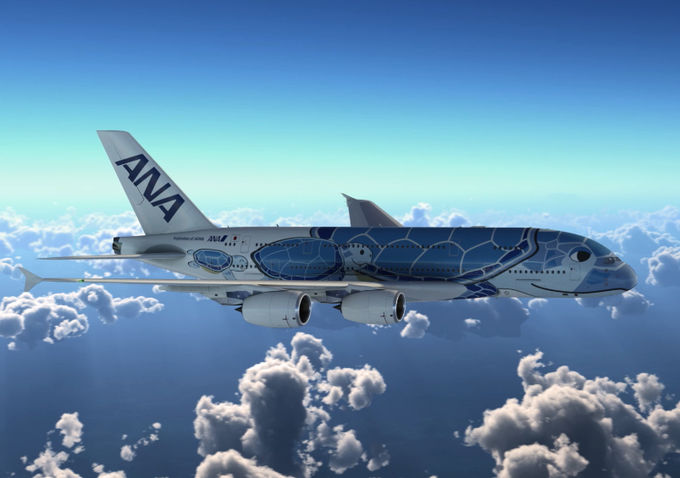 A380 v barvách japonské společnosti All Nippon Airways. Foto: ANA