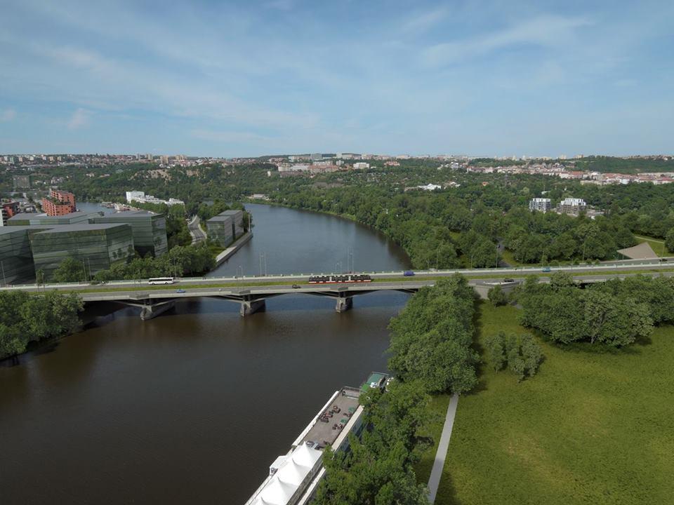 Možná budoucí podoba Libeňského mostu. Foto: facebookový profil Petra Dolínka
