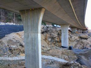 Výstavba silnice I/14 mezi Libercem a Jabloncem nad Nisou. Foto: Jan Sůra