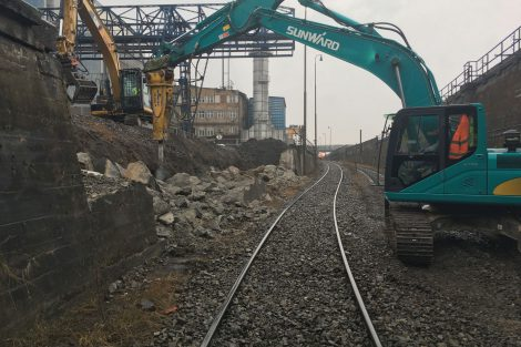 Stavba přesmyku domažlické trati, Plzeň. Autor: Swietelsky Rail/SŽDC