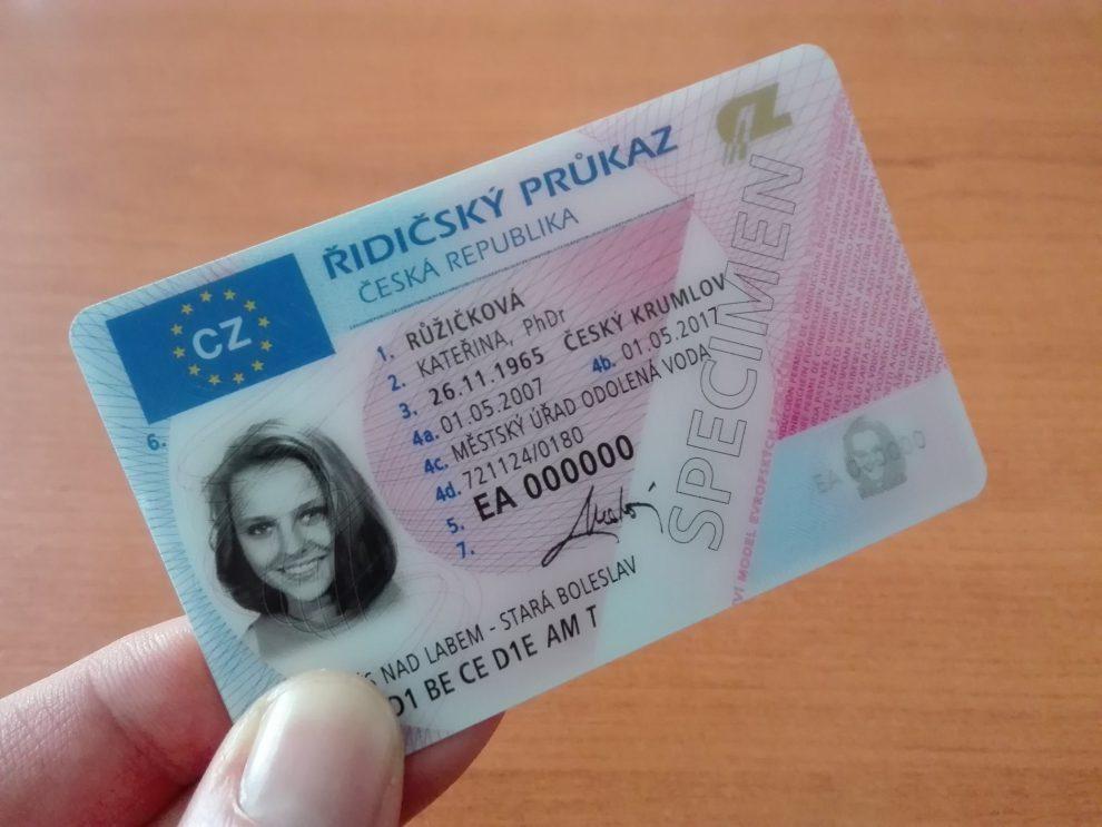 Řidičský průkaz. Foto: Ministerstvo dopravy