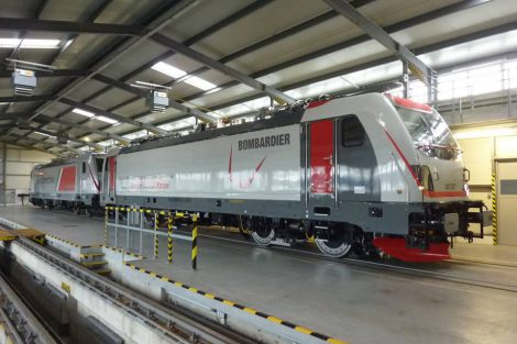 Lokomotivy Traxx MS3 a DC3 ve Velimi. Foto: Bombardier