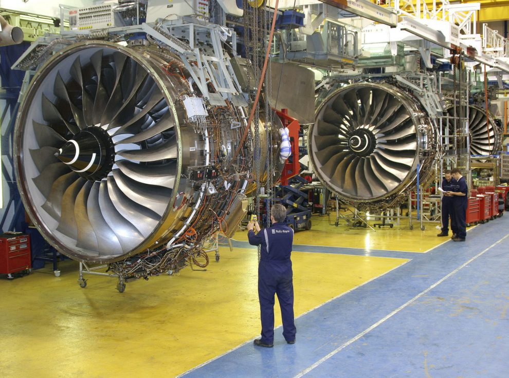 Výroba motorů Rolls-Royce Trent 1000. Foto: Rolls-Royce
