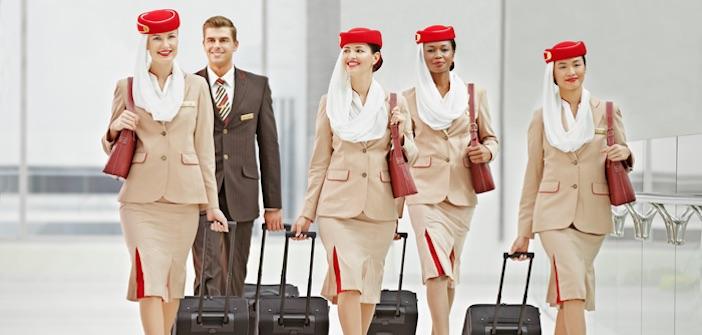 Členové palubních posádek Emirates. Foto: Emirates