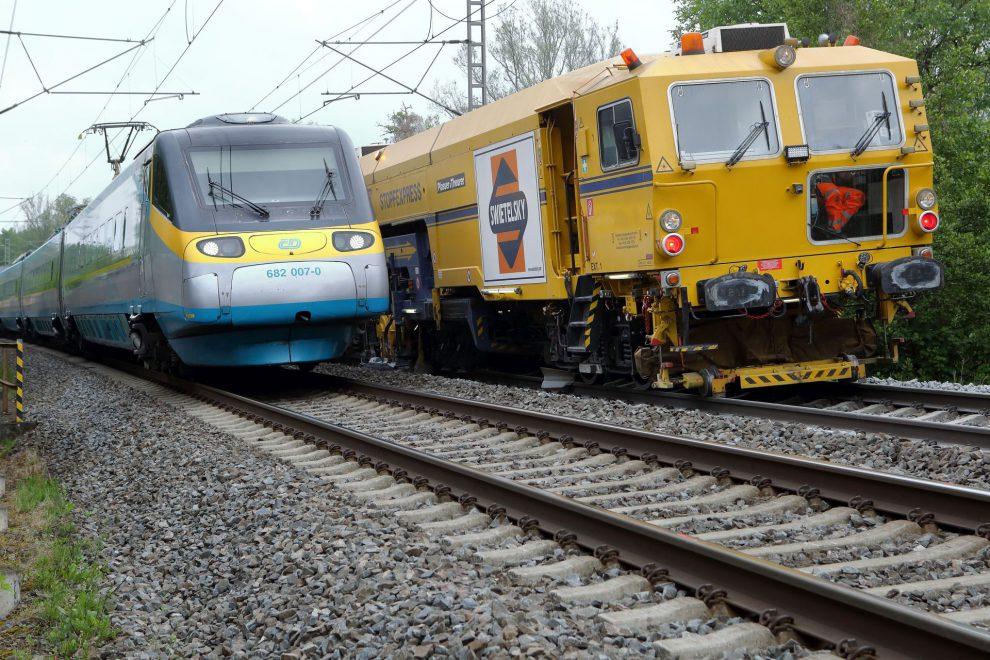 Podbíječka firmy Swietelsky Rail. Autor: Swietelsky Rail