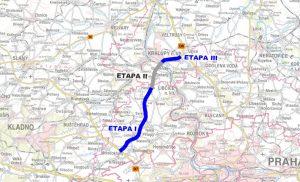 Mapa nového spojení mezi D8 a D7. Foto: Středočeský kraj