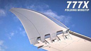 Zakončení křídel u nového Boeing 777X. Foto: Boeing