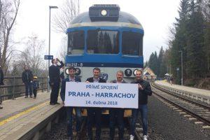 První jízda rychlíku Praha - Harrachov. Foto: Liberecký kraj