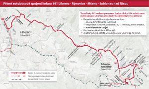 Koncept autobusové dopravy mezi Libercem a Jabloncem nad Nisou po otevření nové části silnice I/14. Foto: iidol.cz