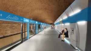 Stanice metra D Olbrachtova. Pramen: DPP