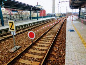 Pomalá jízda ve stanici Praha - Holešovice. Foto: Jan Sůra