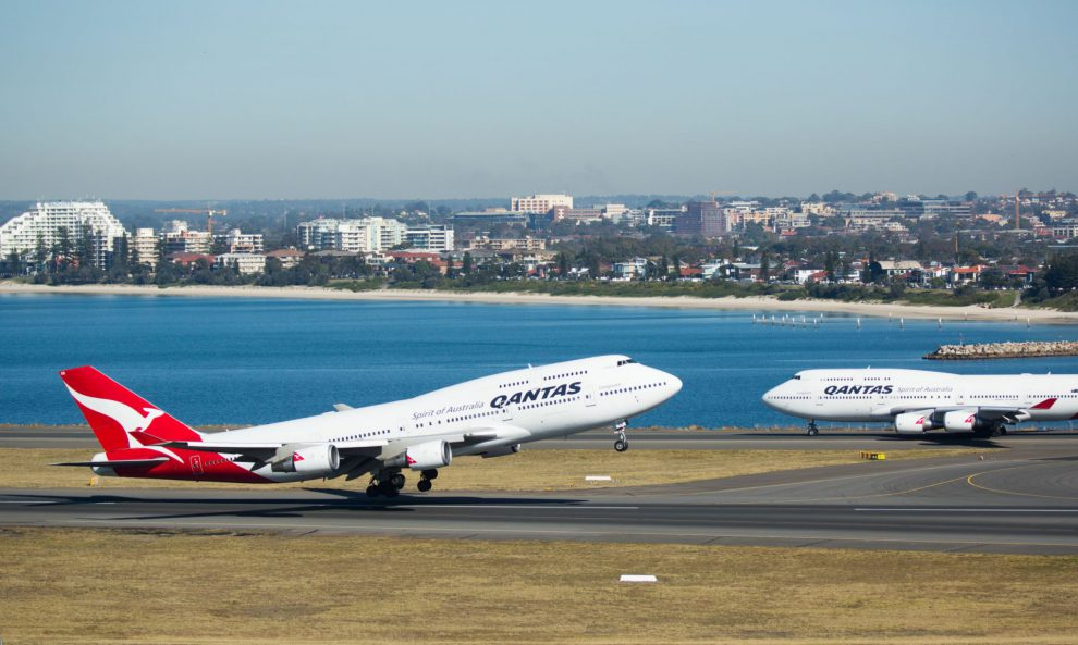 Boeing 747 společnosti Qantas na letišti v Sydney. Foto: Qantas