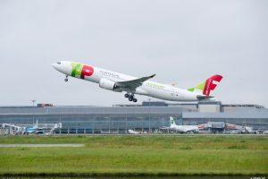 A330neo v barvách TAP Air Portugal po startu v Toulouse. Foto: Airbus