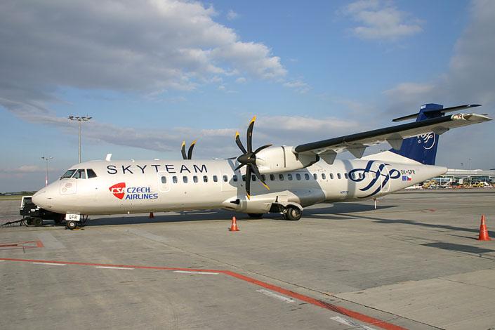 ATR72 společnosti České aerolinie. Pramen: ČSA