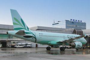 Letadlo A319 vzkříšených Cyprus Airways poprvé v Praze. Autor: Letiště Praha