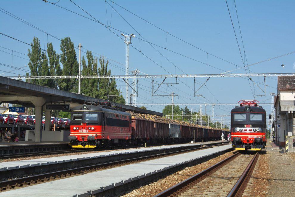 Vlak se dřevem v Hodoníne. Autor: IDS CARGO, Jan Kužílek
