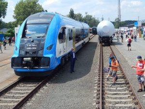 Exppozice Raildays, vepředu jednotka ELF 2 výrobce Pesa Bydgoszcz. Autor: Zdopravy.cz/Jan Šindelář
