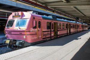 Vlak Saga Rail. Pramen: Facebook Saga Rail.