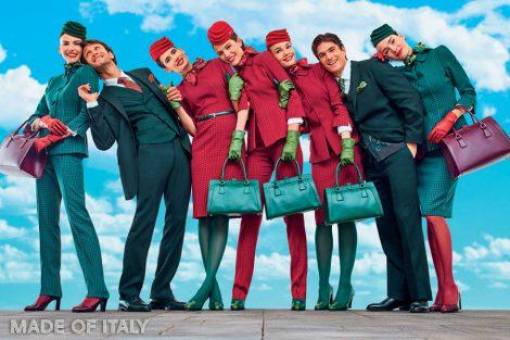 Stávající uniformy Alitalie. Foto: Alitalia