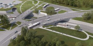 Vizualizace nové zastávky Osová. Foto: Brno