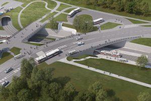 Vizualizace nové zastávky Kampus Bohunice. Foto: Brno