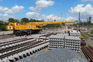 Modernizace železniční stanice Čelákovice. Foto: Swietelsky Rail