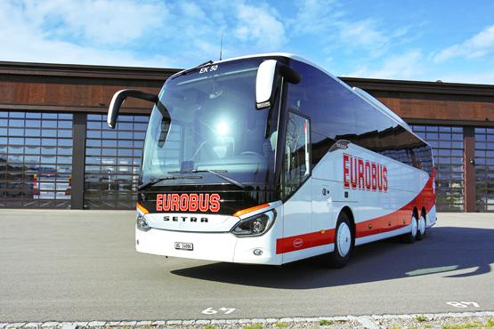 Dálkový autobus Setra v barvách Eurobusu. Foto: Eurobus