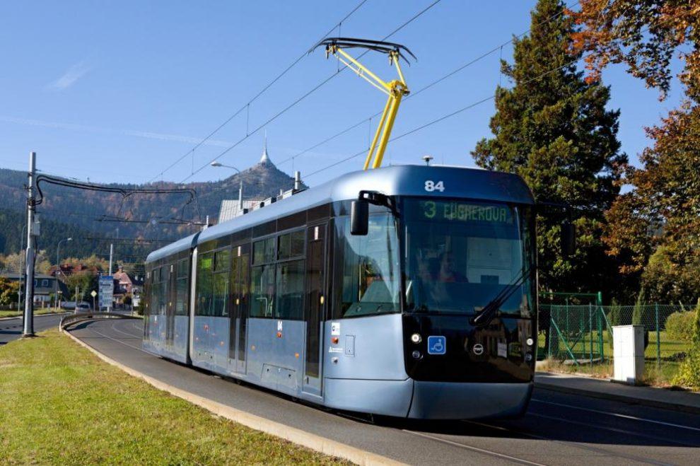 Tramvaj EVO2 v Liberci. Foto: Pragoimex