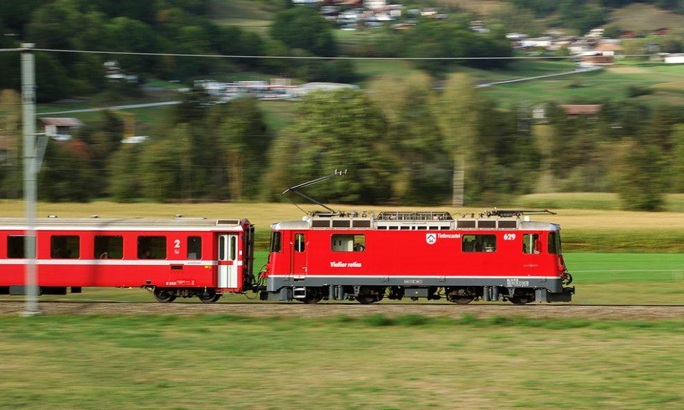 RhB Ge 4/4 II 629 'Tiefencastel', Illanz, foto: Zdopravy.cz/Josef Petrák