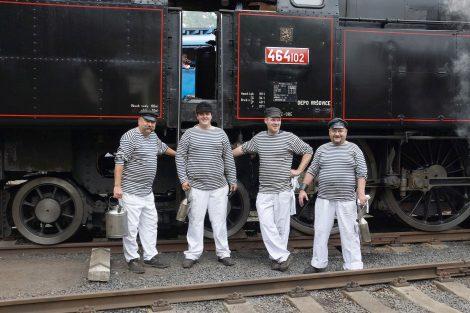 Z provozu historické lokomotivy 464.102. Foto: archív Bohumíra Goldy