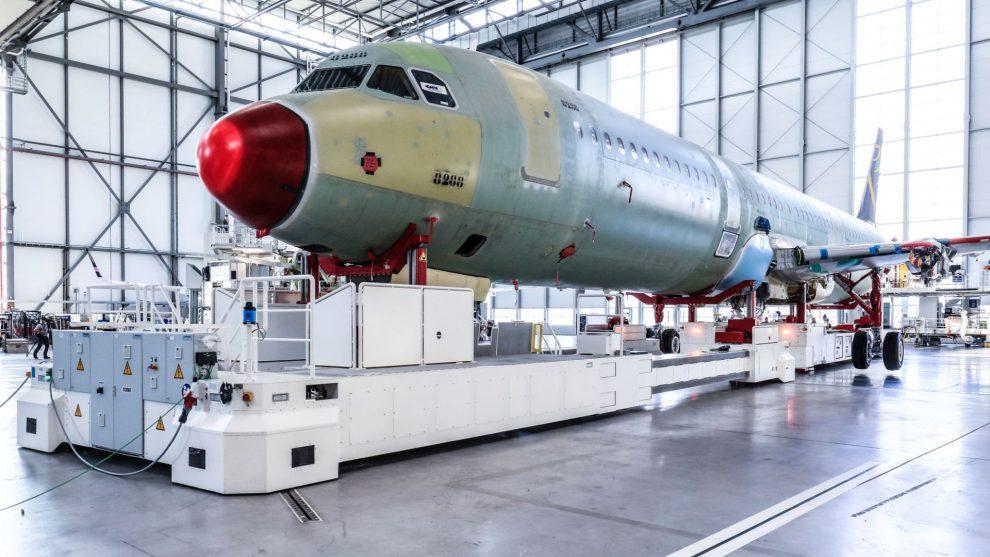 Výroba A320neo v závodě Airbusu v Hamburku. Foto: Airbus