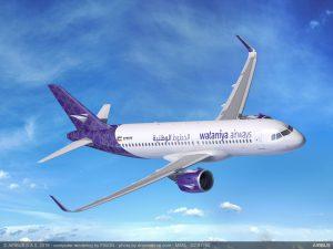 Společnost Golden Falcon Aviation, která je exkluzivním dodavatelem letadel pro kuvajstké aerolinky Wataniya Airways, potvrdila nákup 25 A320neo. K předběžné dohodě došlo už na aerosalonu v Dubaji. Foto: Airbus