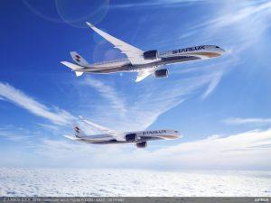 A350 v nátěru pro Starlux Airlines. Úplně nové aerolinky z Tchajwanu si objednaly 12 A350-1000 a 5 A350-900. Foto: Airbus