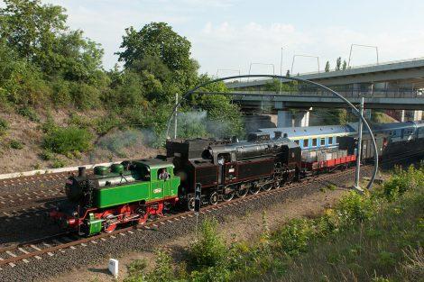 Parní lokomotiva 464.102, Praha, Balabenka, 9. 7. 2018, foto: Zdopravy.cz/Josef Petrák