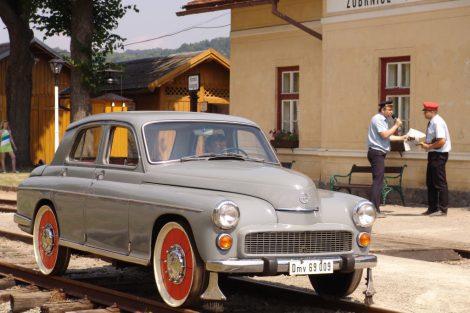 Drezína, snímek ze setkání v roce 2006. Pramen: Zubrnická museální železnice