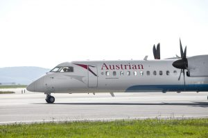 Turbovrtulové letadlo Dash 8 - Q400 společnosti Austrian Airlines. Autor: Austrian Airlines