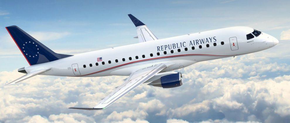 Embraer E-175 pro společnost Republic Airwaýs. Foto. Embraer
